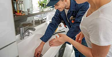 Residential drain cleaning services.