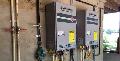 Tankless water heating services! Call us today.